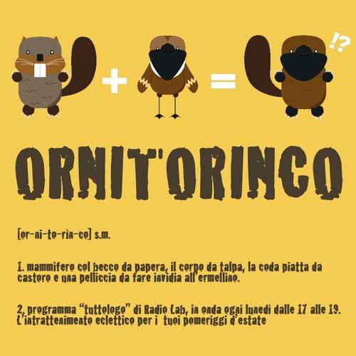 Ornitorinco radio lab catania for Talpa mammifero