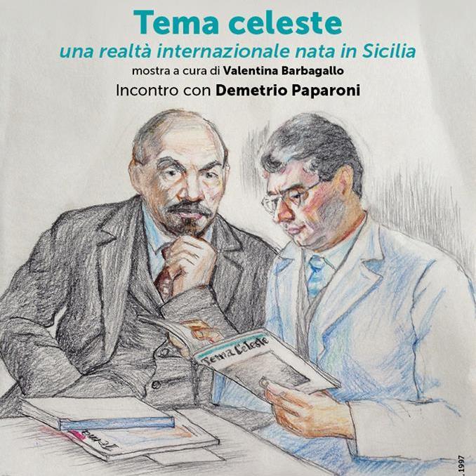 locandina DEMETRIO PAPARONI TEMA CELESTE catania