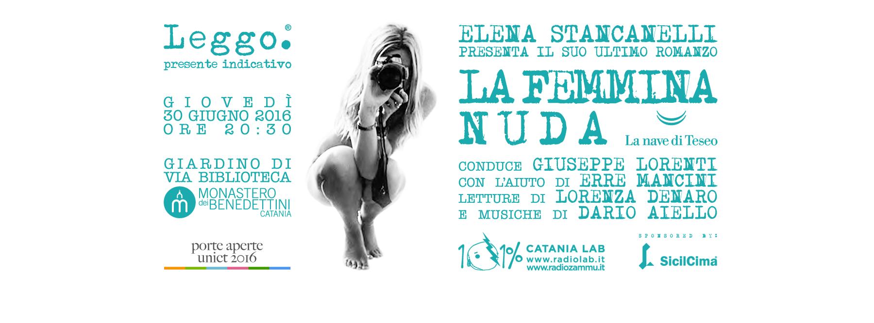 LEGGO CON ELENA STANCANELLI: LA FEMMINA NUDA