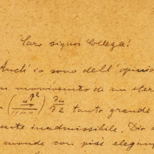 Lettere di finti ammiratori lettere di einstein in for Lettere moderne